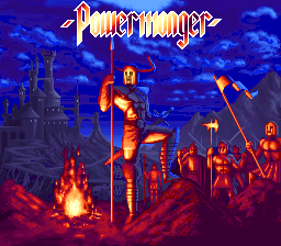 PowerMonger (Europe) Title Screen