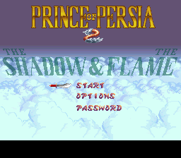 Prince of Persia 2 - The Shadow & The Flame (Europe) Title Screen
