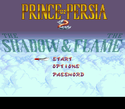 Prince of Persia 2 - The Shadow & The Flame (USA) Title Screen