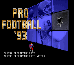 Pro Football '93 (Japan) Title Screen