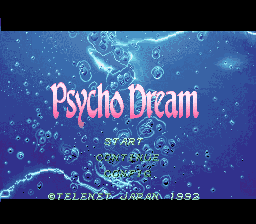 Psycho Dream (Japan) Title Screen