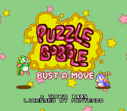 Puzzle Bobble - Bust-A-Move (Europe) Title Screen