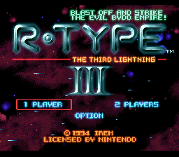 R-Type III - The Third Lightning (Europe) Title Screen