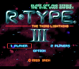 R-Type III - The Third Lightning (Japan) Title Screen