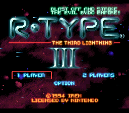 R-Type III - The Third Lightning (USA) Title Screen
