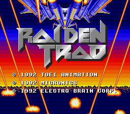 Raiden Trad (USA) Title Screen