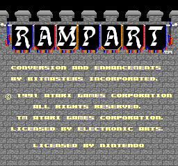 Rampart (USA) Title Screen