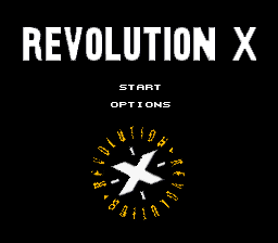 Revolution X (Europe) Title Screen