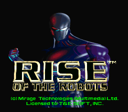 Rise of the Robots (Japan) Title Screen