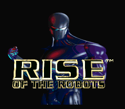 Rise of the Robots (USA) Title Screen