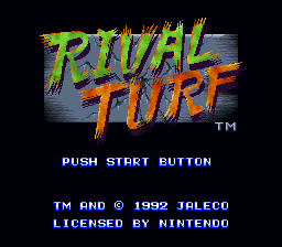 Rival Turf (Europe) Title Screen