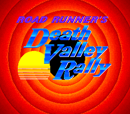 Road Runner's Death Valley Rally (USA) Title Screen