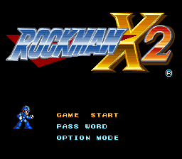 Rockman X2 (Japan) Title Screen