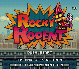 Rocky Rodent (USA) Title Screen