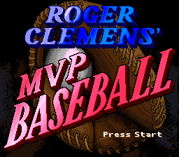 Roger Clemens' MVP Baseball (Japan) Title Screen
