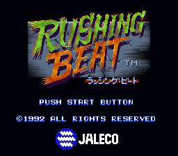 Rushing Beat (Japan) Title Screen