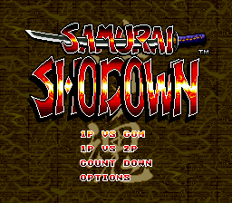 Samurai Shodown (Europe) Title Screen