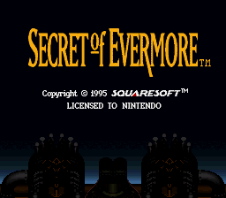 Secret of Evermore (Germany) Title Screen
