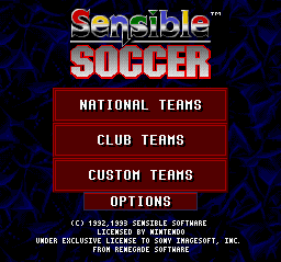 Sensible Soccer (Europe) (En,Fr,De,It) Title Screen