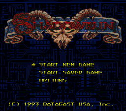 Shadowrun (USA) (Beta) Title Screen