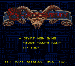 Shadowrun (USA) Title Screen