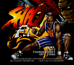 Shaq Fu (Europe) Title Screen