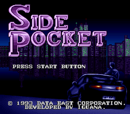 Side Pocket (Japan) Title Screen