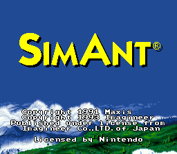SimAnt (USA) Title Screen