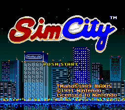 SimCity (Europe) Title Screen