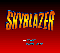 Skyblazer (USA) (Beta2) Title Screen