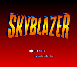Skyblazer (USA) Title Screen