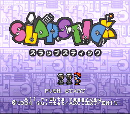 Slap Stick (Japan) Title Screen