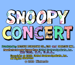 Snoopy Concert (Japan) Title Screen