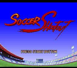 Soccer Shootout (Europe) Title Screen
