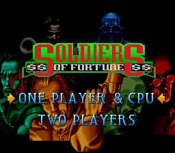 Soldiers of Fortune (USA) Title Screen