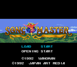 Song Master (Japan) Title Screen