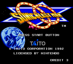 Sonic Blast Man (Europe) Title Screen