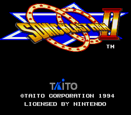 Sonic Blast Man II (USA) Title Screen