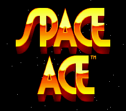 Space Ace (Europe) Title Screen