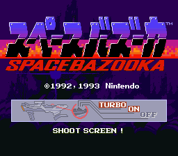 Space Bazooka (Japan) Title Screen