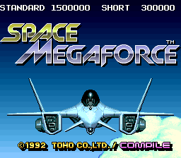 Space Megaforce (USA) Title Screen