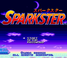 Sparkster (Japan) Title Screen