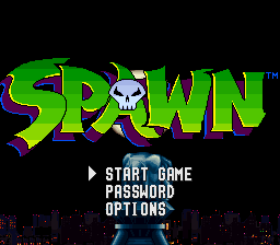 Spawn (USA) Title Screen