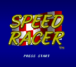 Speed Racer (USA) Title Screen