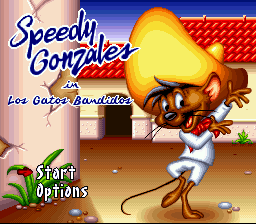 Speedy Gonzales in Los Gatos Bandidos (USA) (Beta) Title Screen
