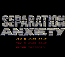 Spider-Man & Venom - Separation Anxiety (Europe) Title Screen