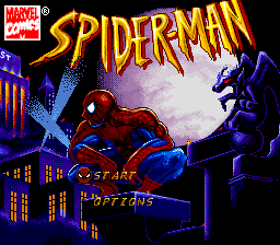 Spider-Man (Europe) Title Screen