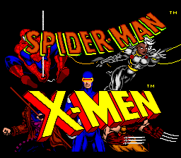 Spider-Man and the X-Men in Arcade's Revenge (USA) Title Screen