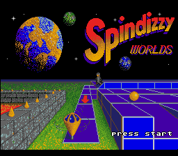 Spindizzy Worlds (Europe) Title Screen