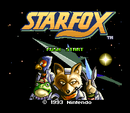 Star Fox (Japan) Title Screen